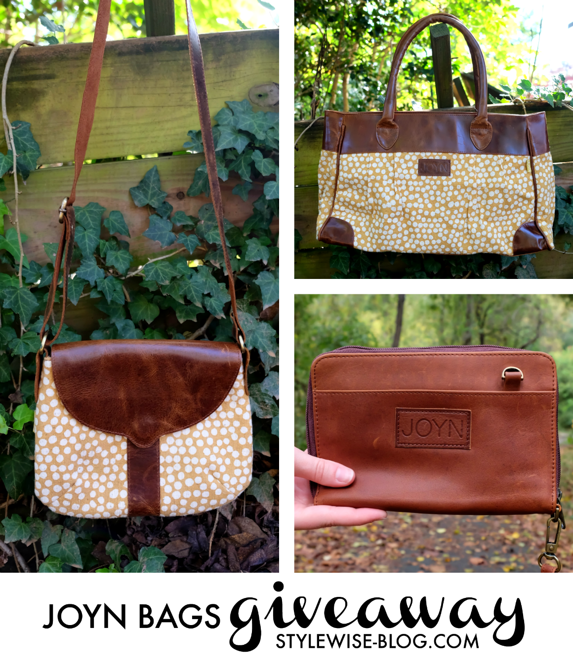 JOYN bags fair trade handbags review and giveaway