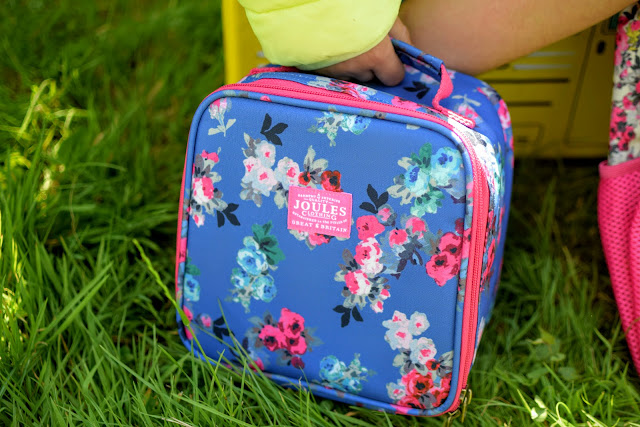 Back to school floral lunch bag.
