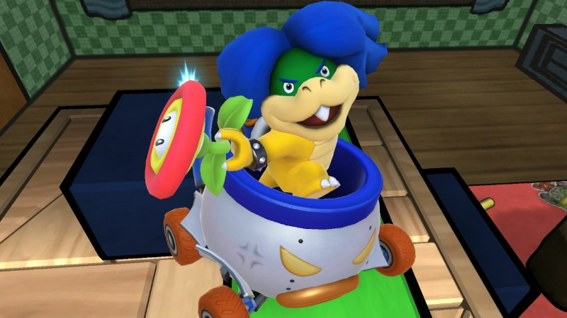 Ludwig Von Koopa posing with Fire Flower Super Smash Bros. For Wii U item