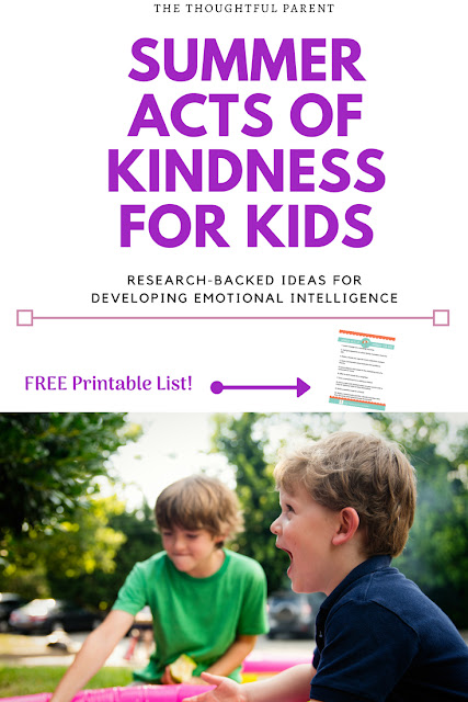 Summer Acts of Kindness for Kids: Ideas for Developing Emotional Intelligence