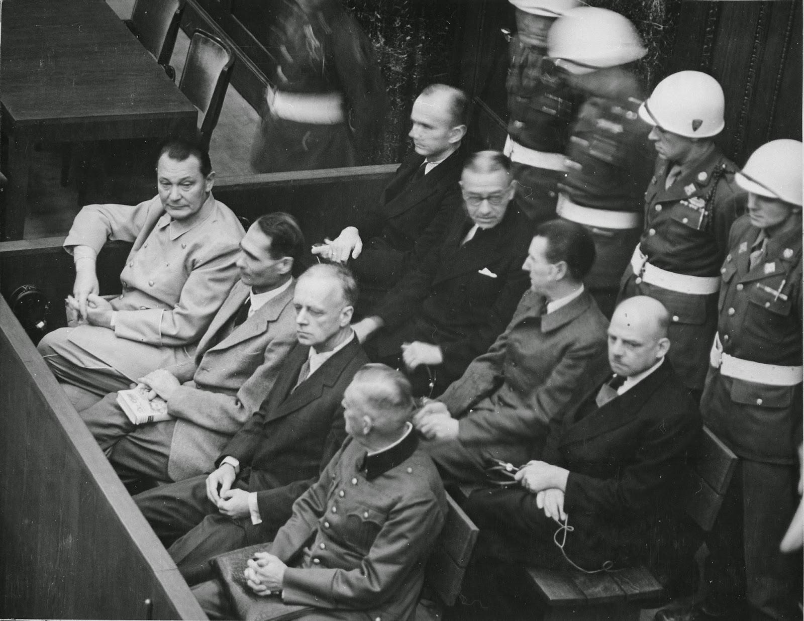 Nuremberg prisoner dock