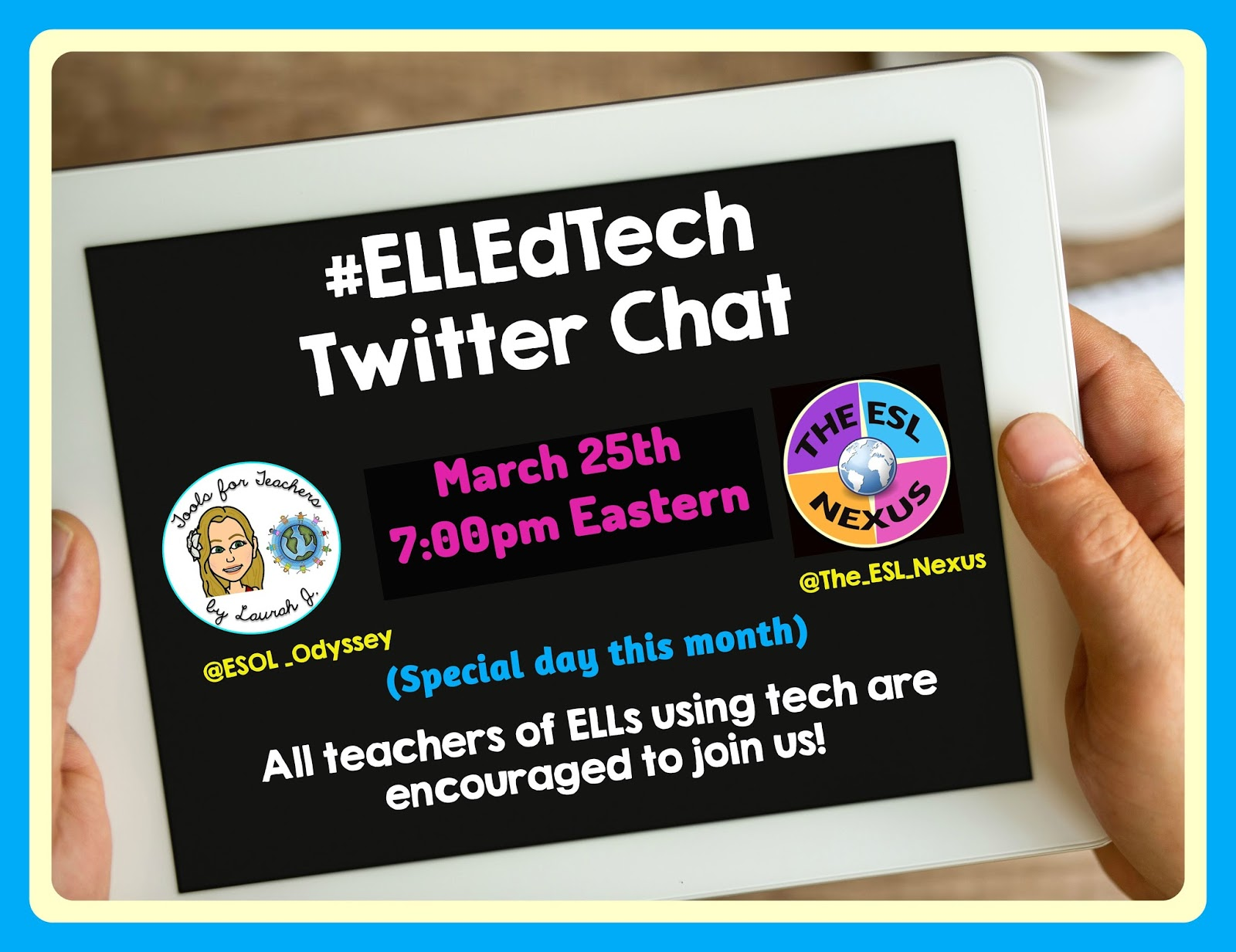Join the March #ELLEdTech Twitter chat on March 25, 2018 to discuss using Virtual Reality with ELLs | The ESL Nexus