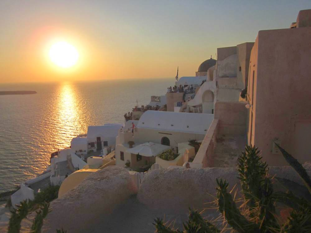 Sunset in Santorini from Oia