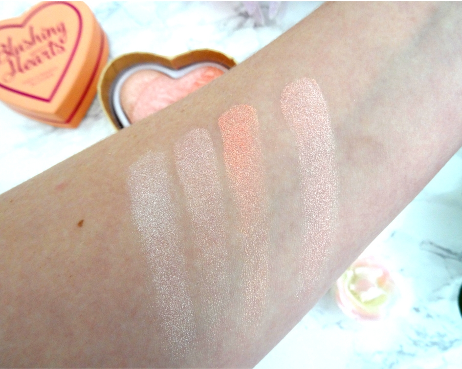 I Heart Makeup's Blushing Hearts Triple Baked Blusher in Peachy Pink Kiss Review and Swatch
