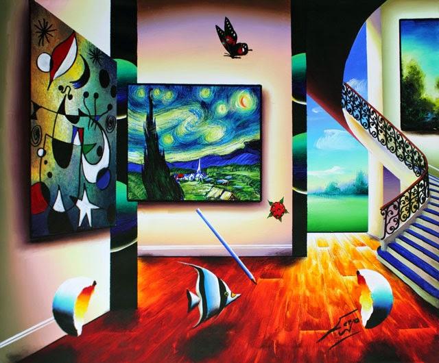 Ventos Quentes Pelo Quarto - Ferjo e suas pinturas ~ O artista da pintura dentro de outra