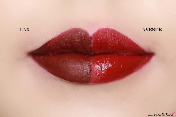 ColourPop Ultra Matte Lip LAX vs AVENUE