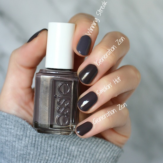 Essie Serene Slates Collection Swatches Review Comparisons Essie Envy
