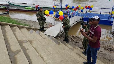 En Puerto Meluk y Carmen del Darién Fuerzas Militares entregaron 2 embarcaderos fluviales