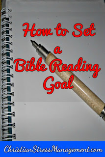 How to set a Bible reading goal