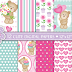 Cute bear digital papers, Cute bears, Floral, Butterfl  free por tempo limitado