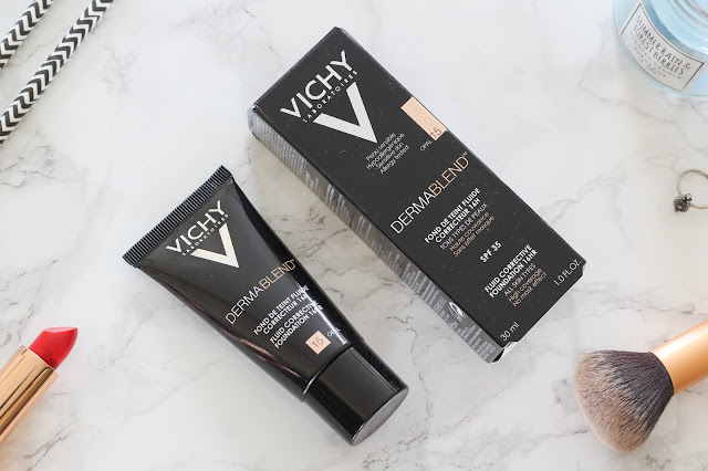 Vichy Dermablend Fluid Corrective Foundation and Setting Powder Review