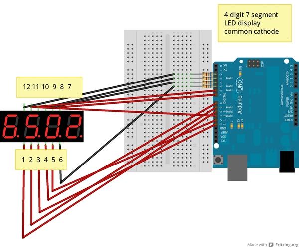 4digit7segmentLedDisplay_LN3461AS2B_Steckplatine_600  Seven Segment Display Datasheet on