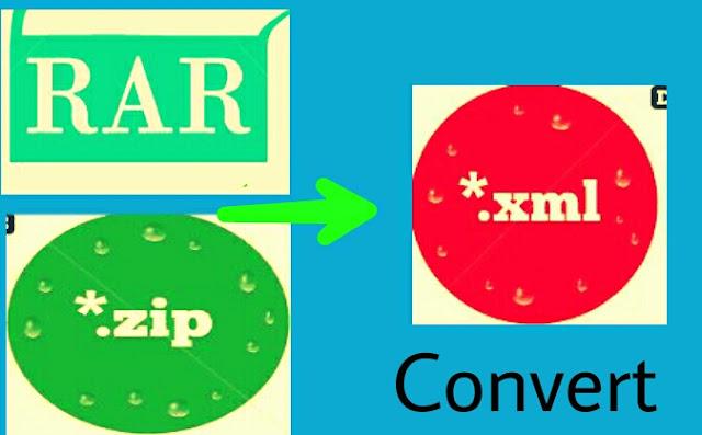 Zip File Convert Xml