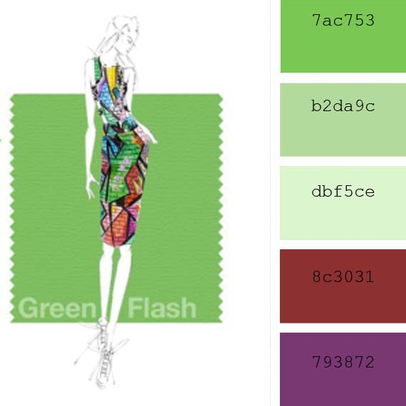 fashion pantone colors spring 2016 green flash