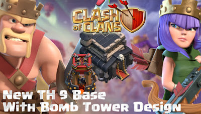 Base COC TH 9 Update Bomb Tower Terbaru 2017