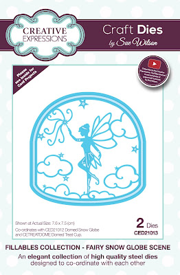 Creative Expressions Fillables Collection Fairy Snow Globe Scene Dies CED21013