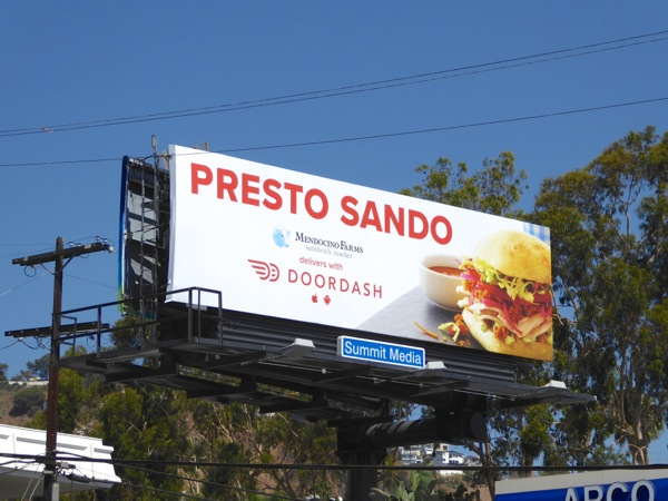 Presto Sando DoorDash sandwich billboard