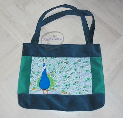 materiałowa eko torba damska ręcznie malowana
