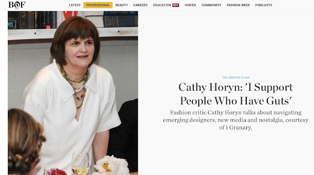 Cathy Horyn in BOF