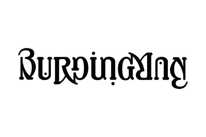 Pengertian Ambirgam, Inspirasi Desain Logo Ambigram - Burning Man Ambigram