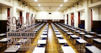 Soalan Percubaan Bahasa Melayu SPM 2018 + Skema Jawapan