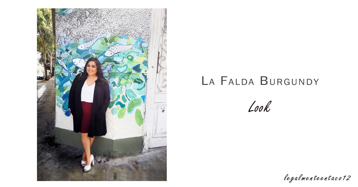 Look Falda guinda