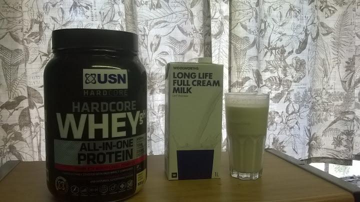 usn hardcore whey protein shake & milk protein shake