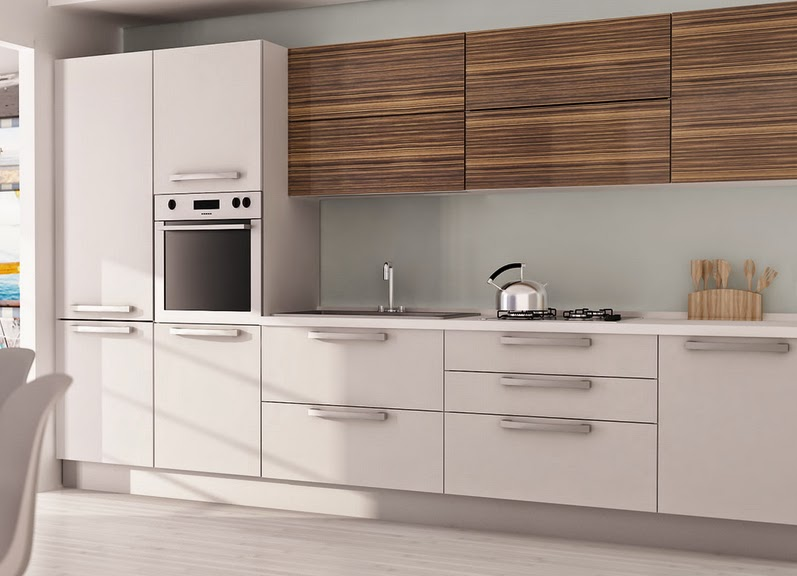 50 ideas de c mo combinar los colores en la cocina for Cocina blanca y madera moderna