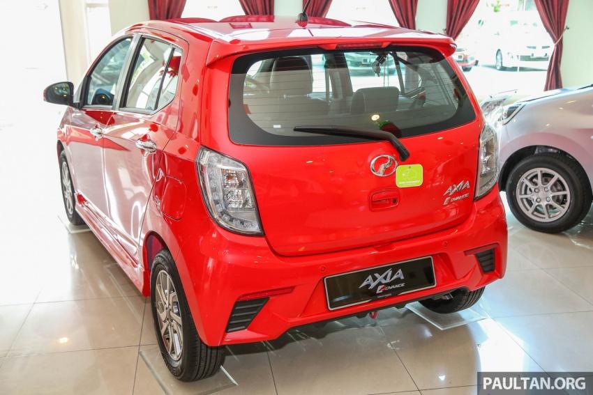 Gambar dan Foto Perodua Axia Advance Baru 2017