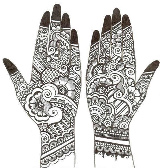 Mehndi Designs With Black Cone : Indian mehndi henna designs