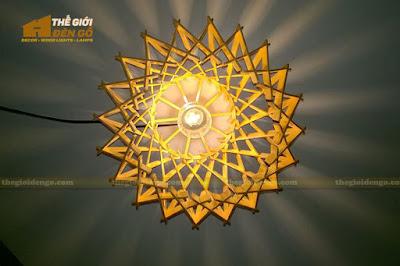 Thế Giới Đèn Gỗ - Đèn gỗ trang trí dg212-5