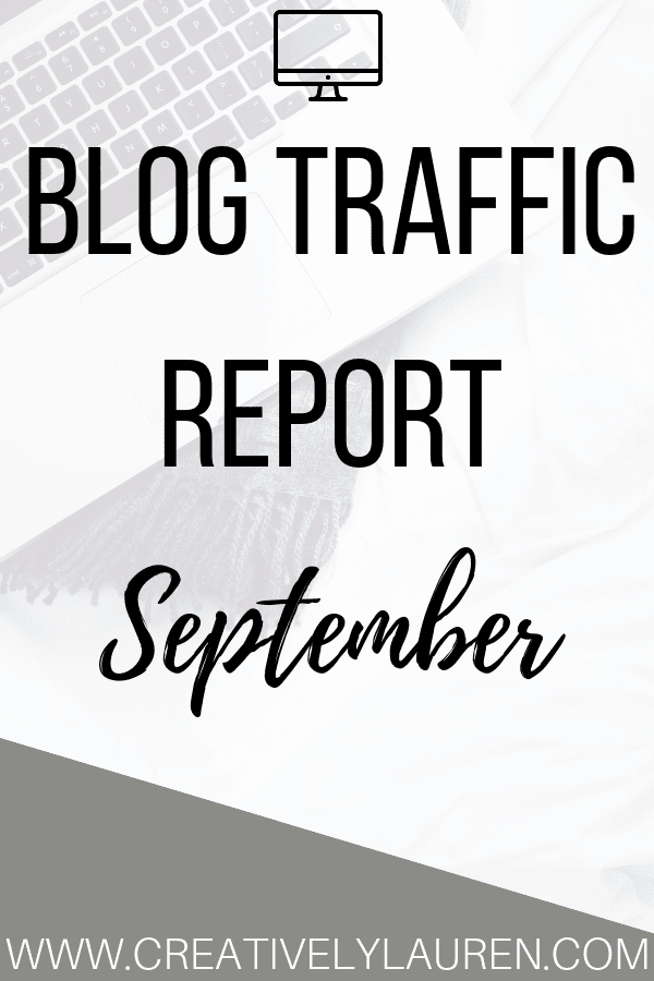 "Are you ready? It's time to go over September's traffic report! Every month I go over the statistics of my blog, Twitter, Pinterest, and Etsy shop. I do this to show other bloggers that it is okay if you have ""small numbers""."