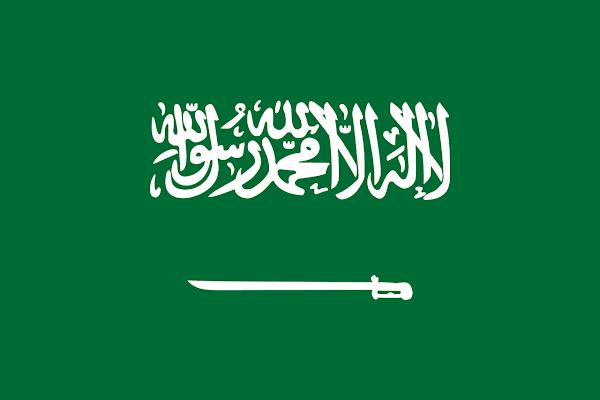 Logo Gambar Bendera Negara Arab Saudi PNG JPG ukuran 600 px