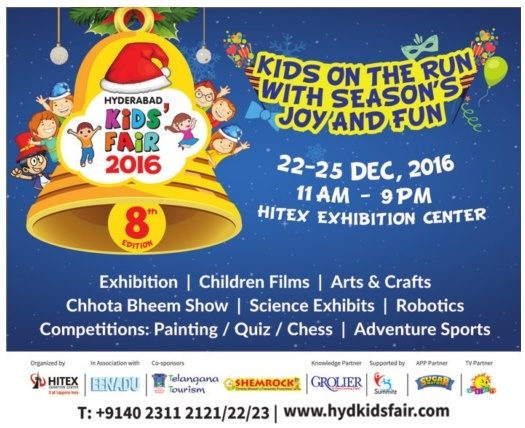 Wonderful opportunities for kids @Hyderbabd  | www.hydkisfair.com | Hyderabad kids fair | December 2016 events
