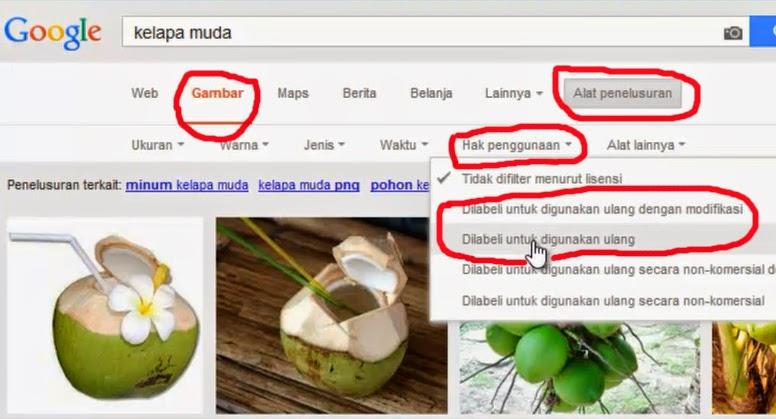 cara mencari gambar untuk blog