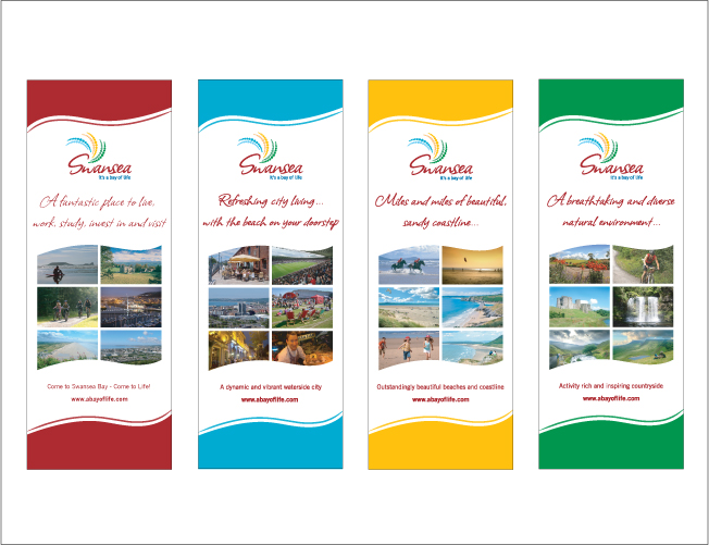 inspire INKFISH ♥ pull up banners Pinterest - advertisement brochure