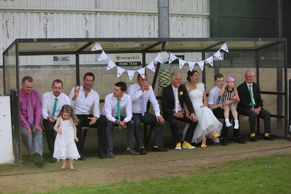 When it comes to bizarre wedding gifts, can anyone beat a football stadium dugout?