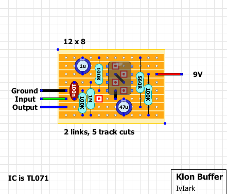 Dual Capacitor Wiring Diagram Guitar Fx Layouts Klon Buffer
