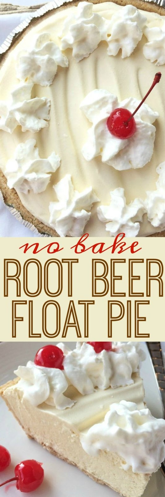 No Bake Root Beer Float Pie