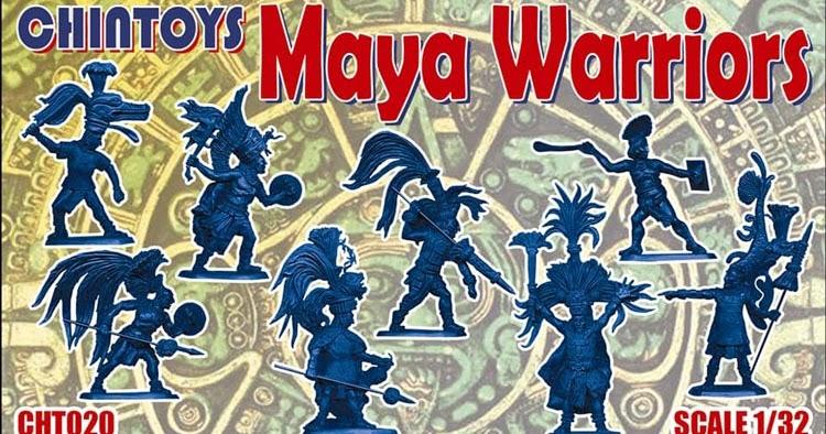 WARRIORS Figure Set Chintoys 1//32 MIXTECS and ZAPOTECS AZTECS