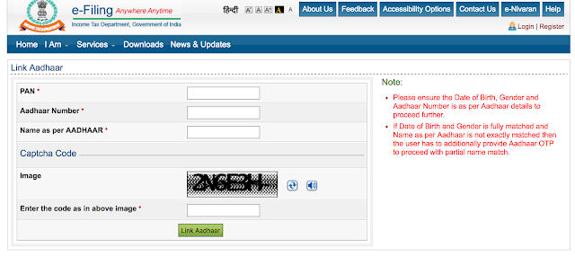 How to link Aadhar Card Number with PAN?
