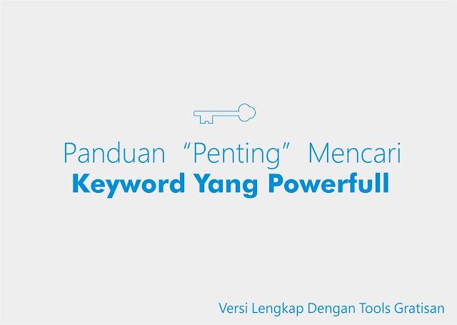 cara meriset dan mencari keyword untuk blog