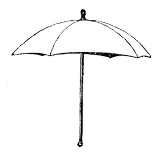 umbrella parasol image digital illustration vintage
