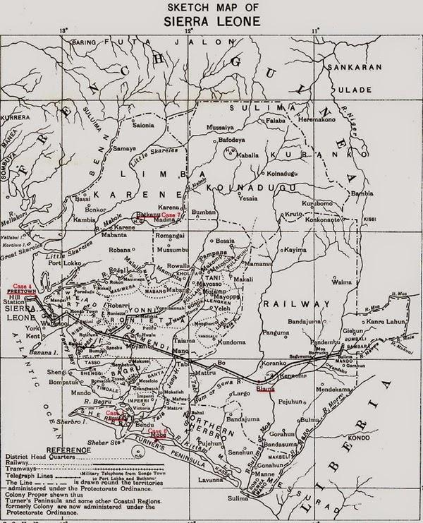 HISTORICAL MAPS: Sierra Leone Map 1913