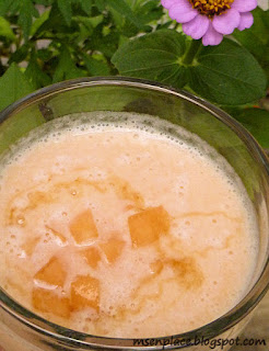 Cantaloupe, Honey, & Vanilla Smoothie