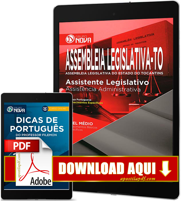 Apostila Assembleia Legislativa Tocantins 2016 PDF Download Assistente Legislativo