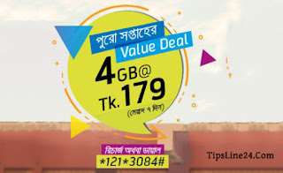 GrameenPhone Internet Offer 4GB at 179Tk