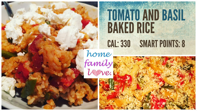 Super filling and vegetable packed backed rice is a quick easy meal that is only one pot!