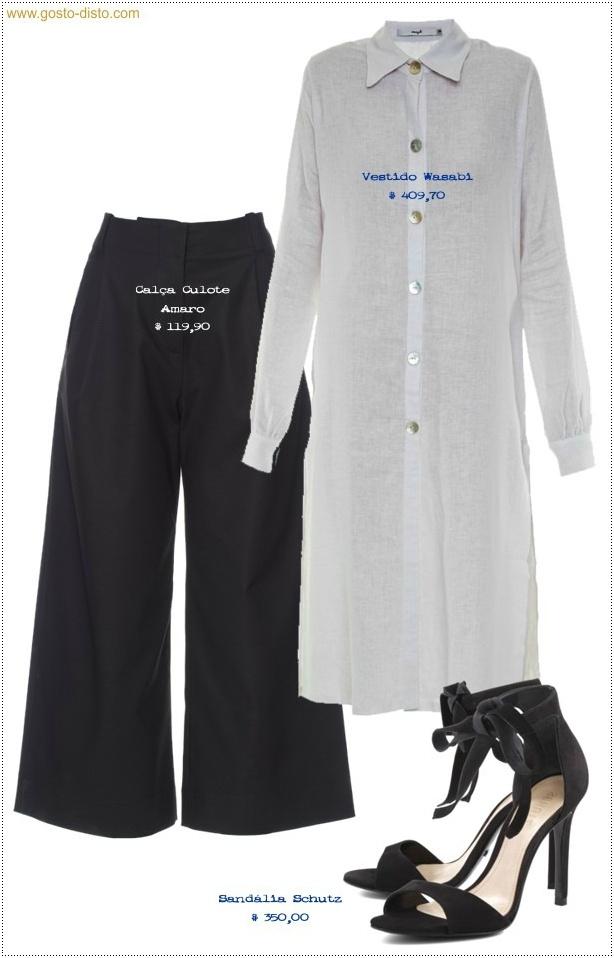 Como usar vestido chemise com calça
