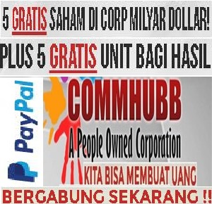 COMMHUBB, GRATIS INTERNET GLOBAL, SAHAM GRATIS